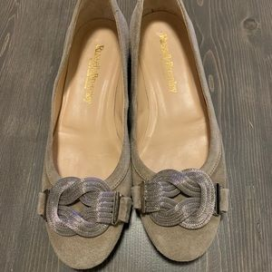 Russell & Bromley Tan Suede Flats